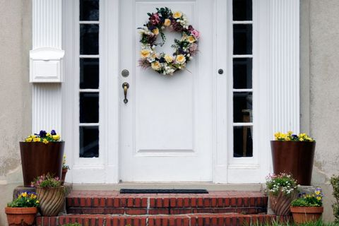 "<p>A few strategically placed, stylish boxes are a budget-friendly way to lend style to your home's entry. Add a good-size planter to either side of the front door (symmetry is key!). ""Pick flowers that are colorful but not overly fragrant,"" Ma suggests. ""You don't want to attract bees or ants, which can become a problem.""</p>"