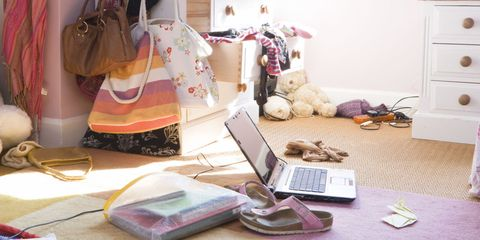 Cluttered Messy Bedroom