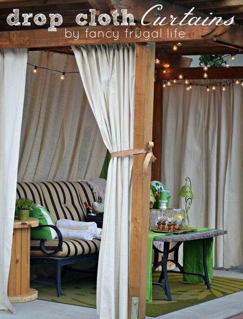 Drop Cloth Curtain Cabana New