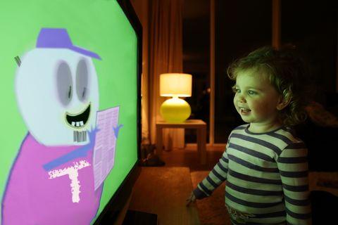 Child Watching Cartoons