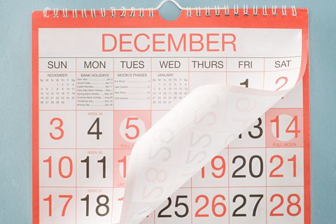 monthly calendar turning