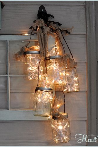 Mason Jar Crafts - Twinkle Chandelier