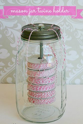 Mason Jar Crafts - Twine Holder