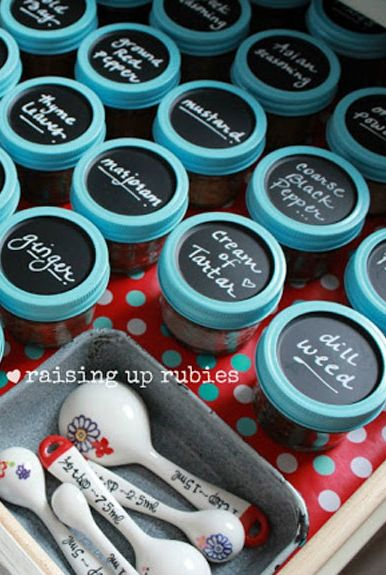 Mason Jar Crafts - Spice Rack