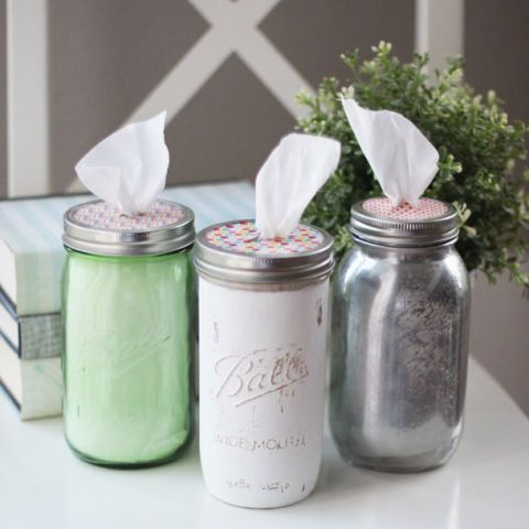 Mason Jar Crafts - Tissue Holder