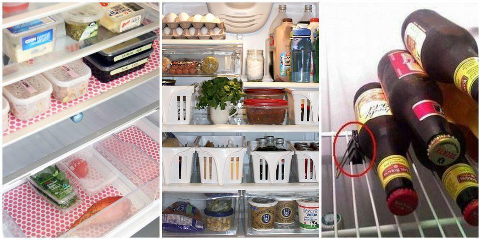 Refrigerator Organizing Hacks Space Saving Tricks For A Tiny Fridge
