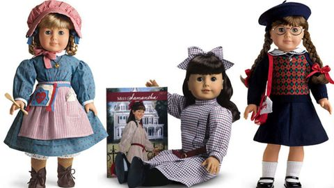 Original three American Girl dolls Kirsten, Samantha and Molly