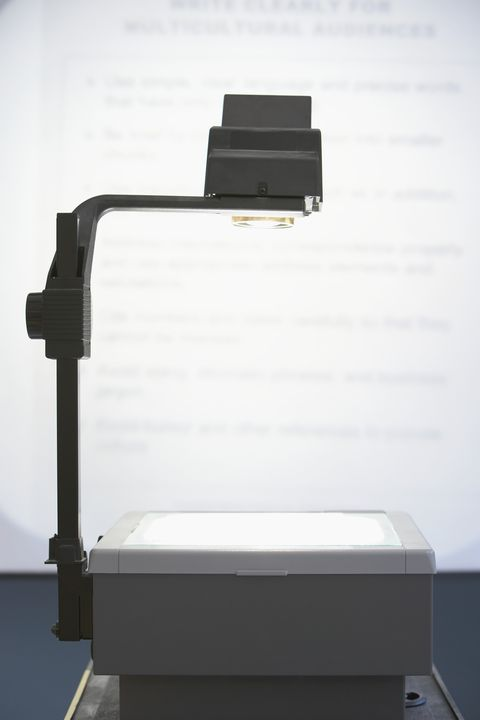 overhead transparency projector