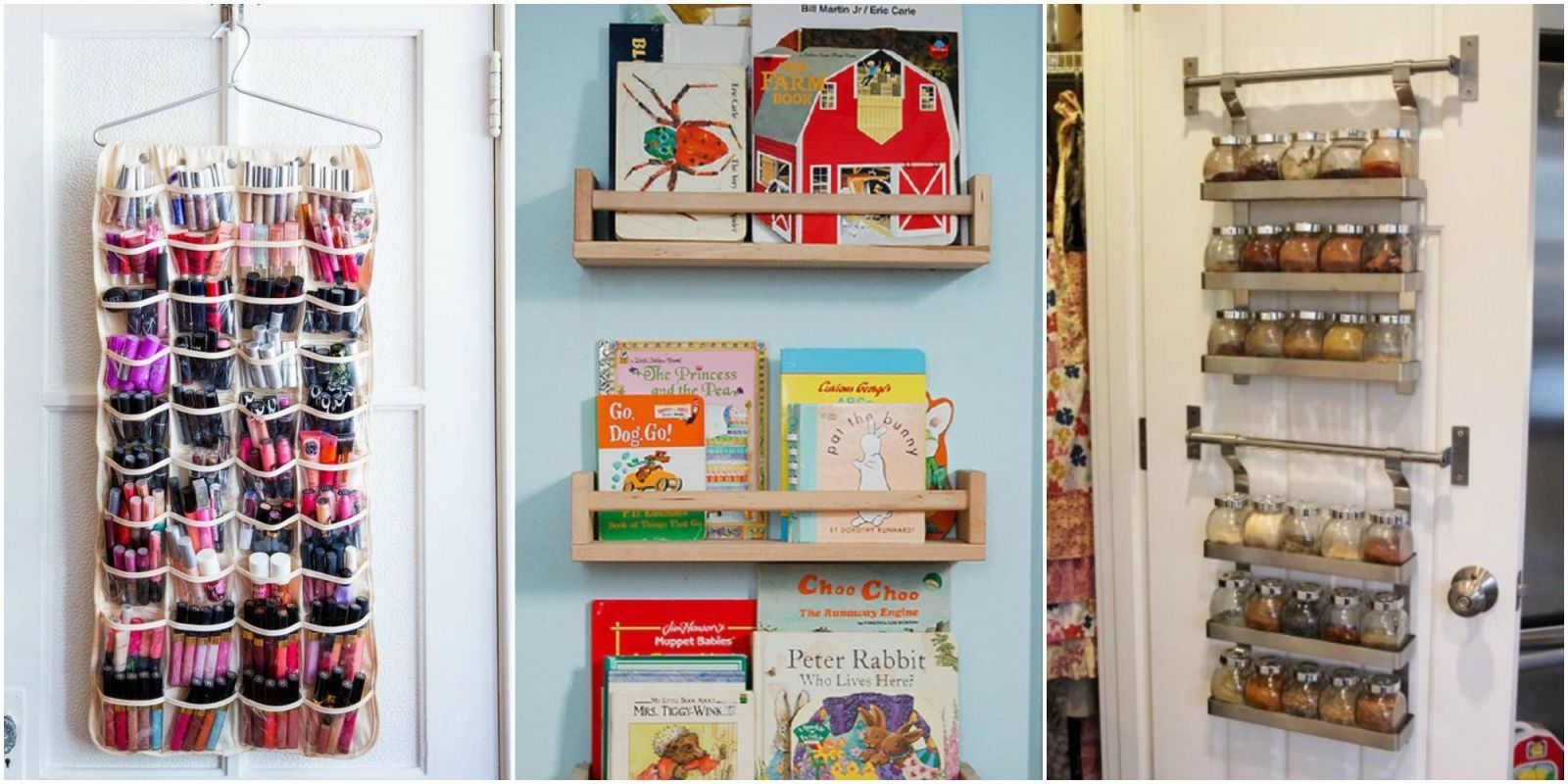 Youu0027re missing out on a ton of hidden space! & Closet Door Storage Ideas - New Uses for Closet Doors