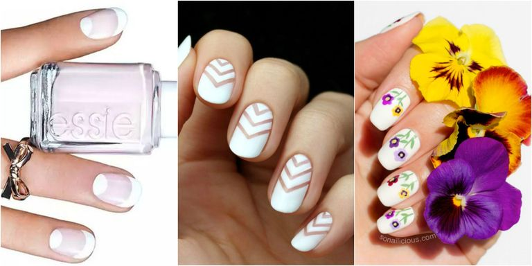 These pale pretty designs let you be a manicure minimalist, but better. - 15 White Nail Art Designs - White Manicure Tutorials