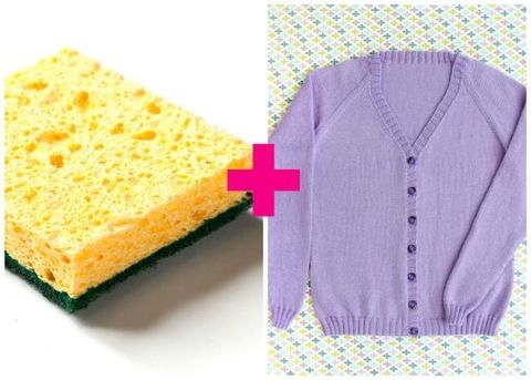 Sponge and sweater