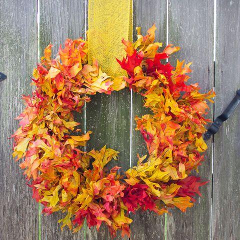 Fall Wreaths - Fall Leaf Wreath