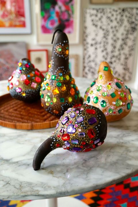 Fall Crafts - Bedazzled Gourds