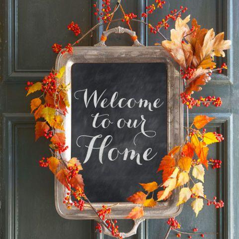 Fall Wreaths - Chalkboard Leaves