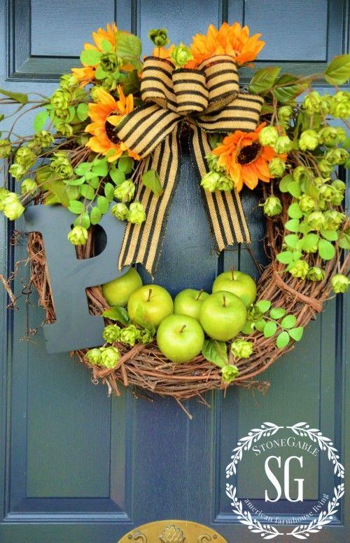 25 Easy Diy Fall Wreaths Best Homemade Wreaths For Fall