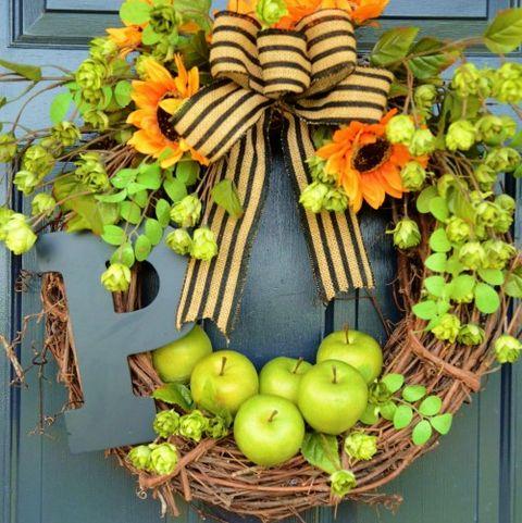 Fall Wreaths Green Apple Wreath
