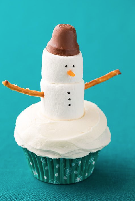 PGet Your Craft On With These Super Easy Marshmallow Snowman Toppers Its Courtesy Of Cooking Classy