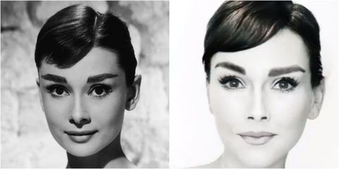3252f1a983e Audrey Hepburn Makeup Transformation - How to Do Audrey Hepburn's ...