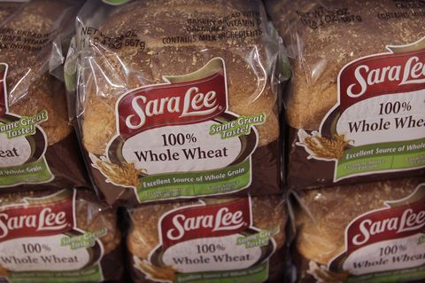 Sara Lee bread is offered for sale at the Cermak Fresh Market grocery store in the Little Village neighborhood on November 9, 2010 in Chicago, Illinois. Today it was announced that Groupo Bimbo would purchase Sara Lee's North American Fresh Bakery business for $959 million.
