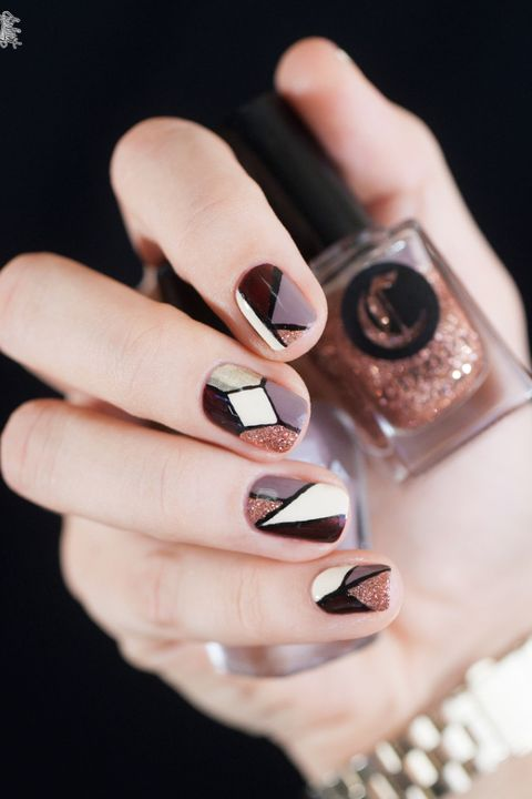 Stained Glass Windows Fall Nail Design - 38 Fall Nail Art Ideas - Best Nail Designs And Tutorials For Fall 2018