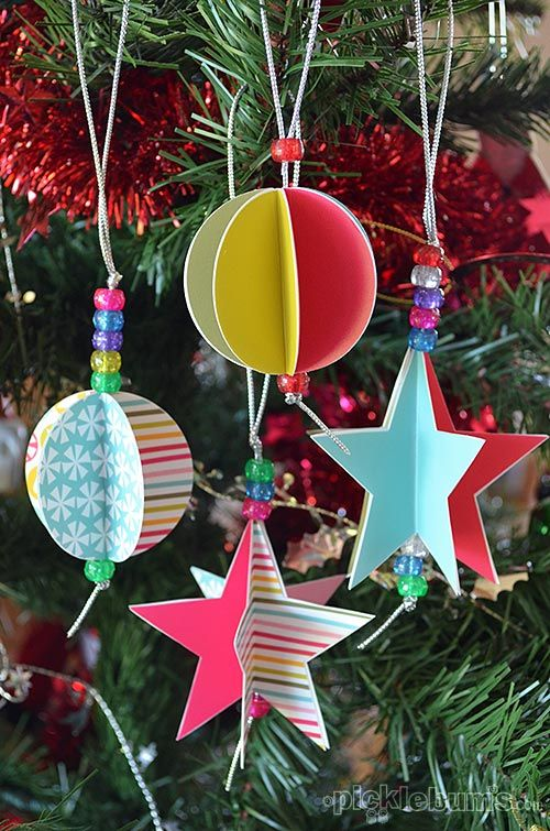 55 Homemade Christmas Ornaments - DIY Handmade Holiday Tree Ornament ...