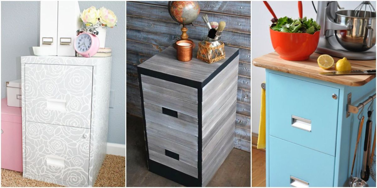 9 Filing Cabinet Makeovers New Uses, Wooden File Cabinet Makeover