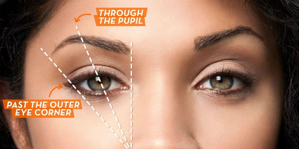 Find Your Eyebrows Best Arch And Length How To Get Perfect Eyebrows