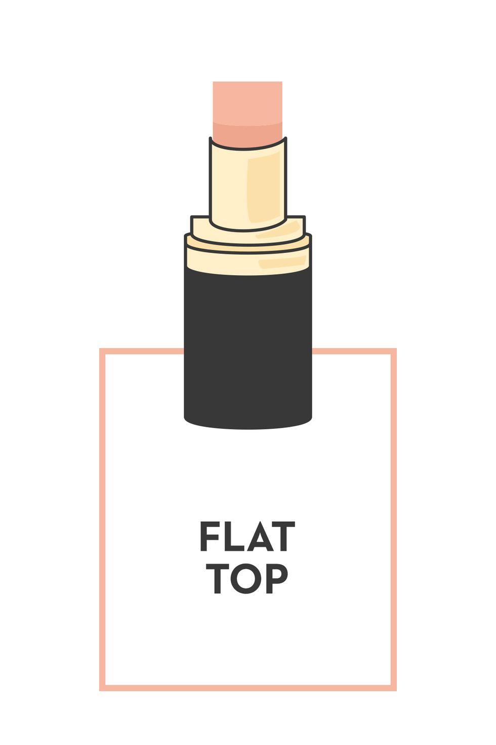 Bentuk lipctick ujung rata