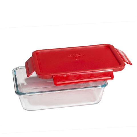 Pyrex 4 Lock 6 Cup Rectangle Storage W Red Poppy Plastic Cover Review