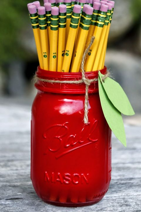 Fall Crafts Apple Mason Jar