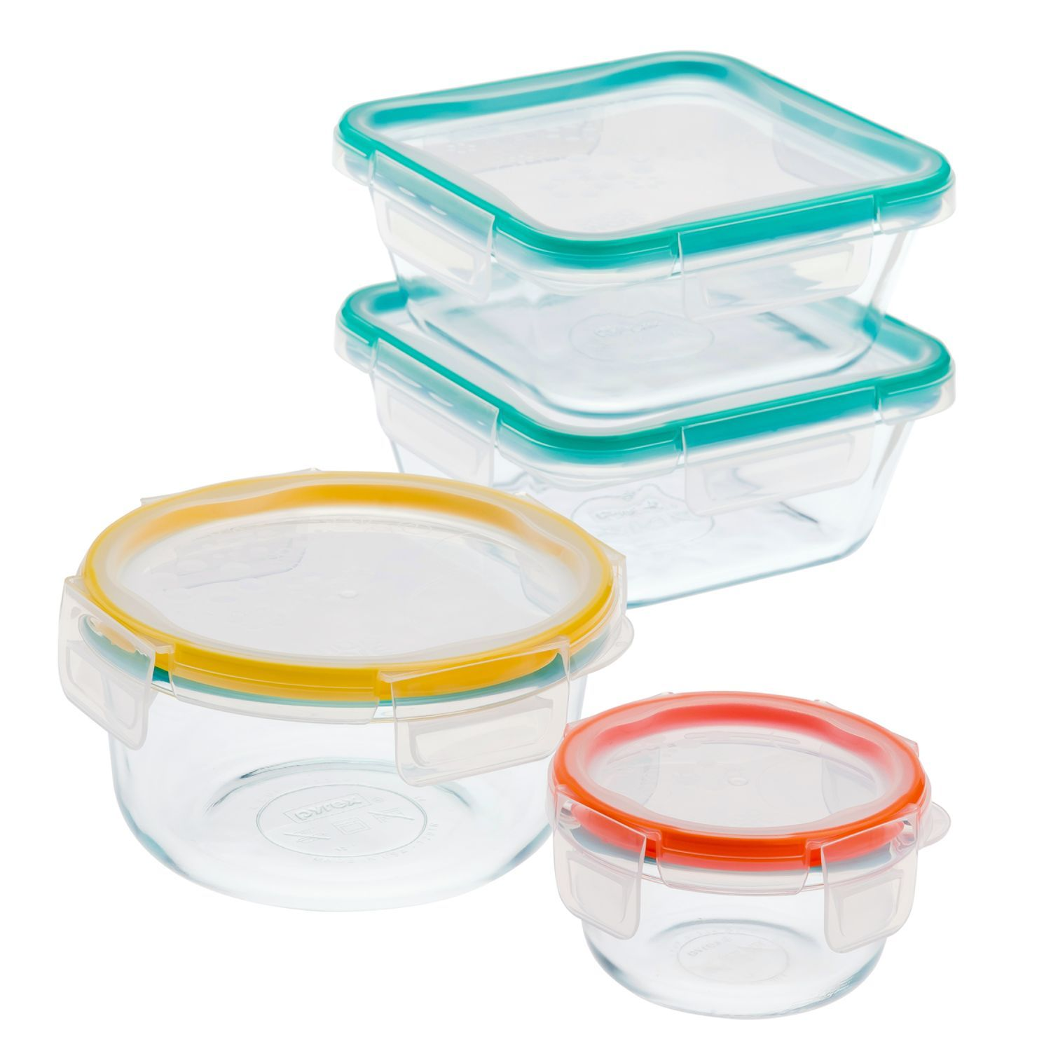 Snapware Total Solution 8 Pc Pyrex Glass Food Storage Set W/Snapware Lids  Review