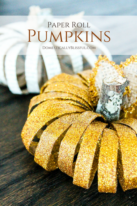 Fall Crafts Paper Roll Pumpkins