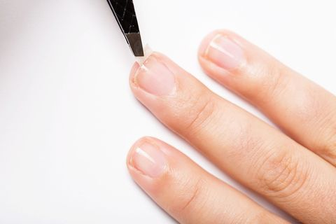 Nail, Finger, Cosmetics, Skin, Hand, Manicure, Nail polish, Eyebrow, Nail care, Material property,
