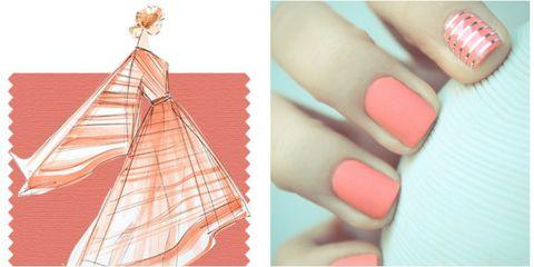 Toe, Nail, Nail polish, Nail care, Pattern, Foot, Manicure, Peach, Cosmetics, Triangle,