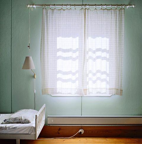 Wood, Interior design, Room, Window covering, Textile, Flooring, Window treatment, Hardwood, Wall, Floor,