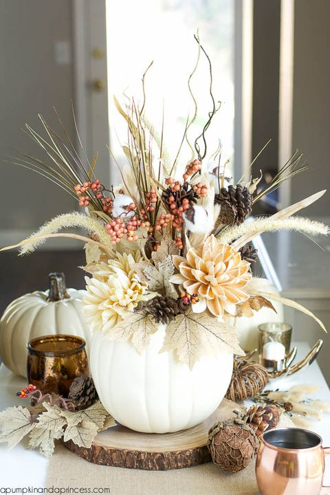 Groovy 37 Easy Thanksgiving Centerpieces For Your Holiday Table Interior Design Ideas Apansoteloinfo