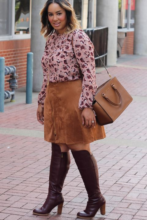 61aabeb932 23 Plus-Size Outfit Ideas for Fall - Plus-Size Style Inspiration