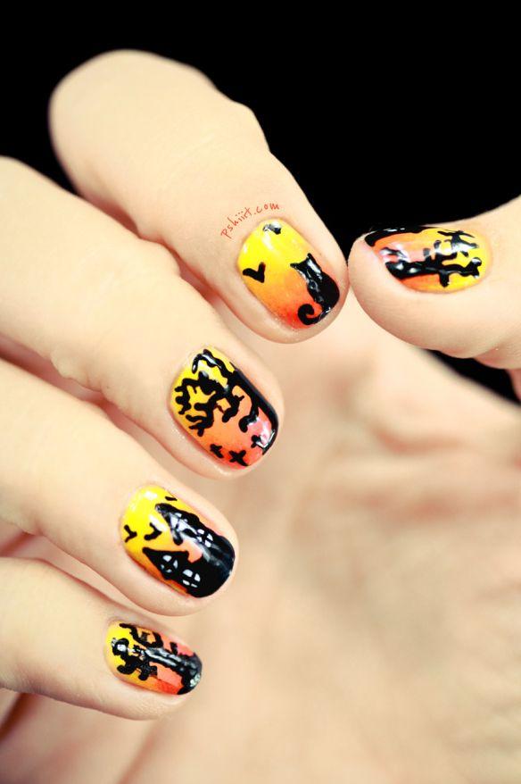 - 55+ Halloween Nail Art Ideas - Easy Halloween Nail Polish Designs