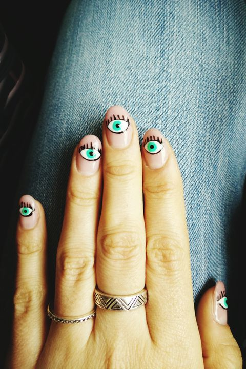 evil eye halloween nails - 41 Halloween Nail Art Ideas - Easy Halloween Nail Polish Designs