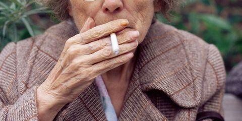Old Lady Smoking