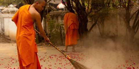 Monks Cleaning