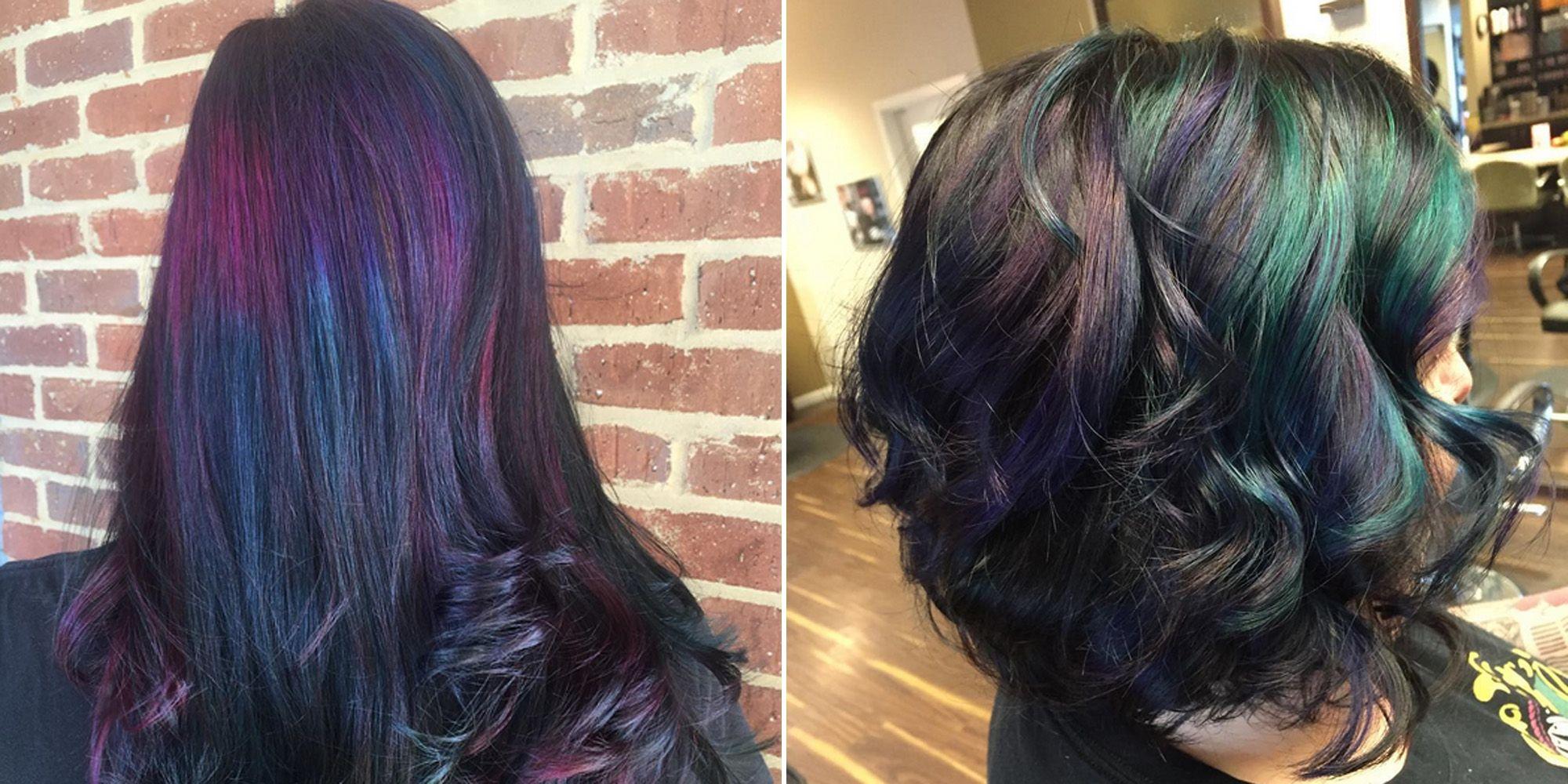 Oil slick hair color trend 2015 hair dye trends solutioingenieria Choice Image