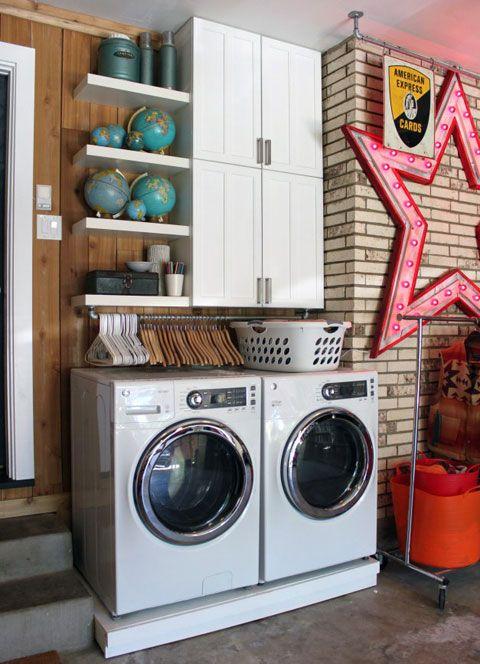 10 small laundry room organization ideas - storage tips for laundry Laundry Room Closet Organization Ideas
