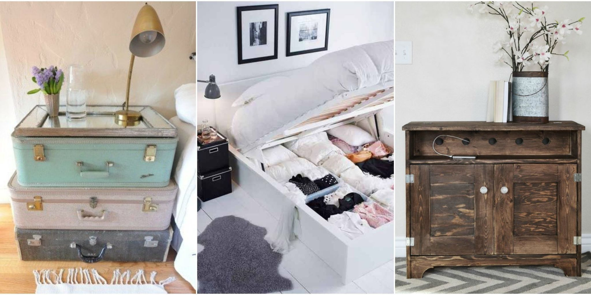 Make Your Bed Frame, Nightstand, And Even Walls Pack In Extra Organization.