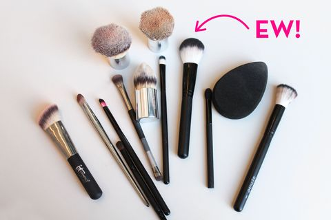 What Not Washing Makeup Brushes for a