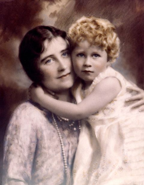 Baby Queen Elizabeth and Duchess of York British Royal Family Portrait