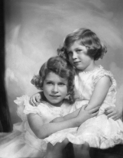 Queen Elizabeth Princess Margaret British Royal Family Portrait