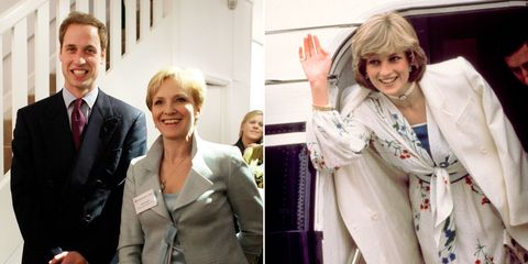 Julia Samuel, Princess Diana, Prince William