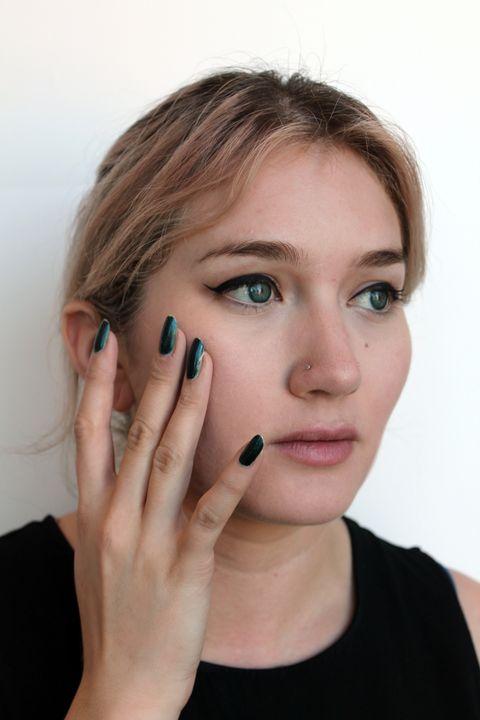 Finger, Lip, Cheek, Brown, Skin, Eye, Eyebrow, Eyelash, Nail, Beauty,