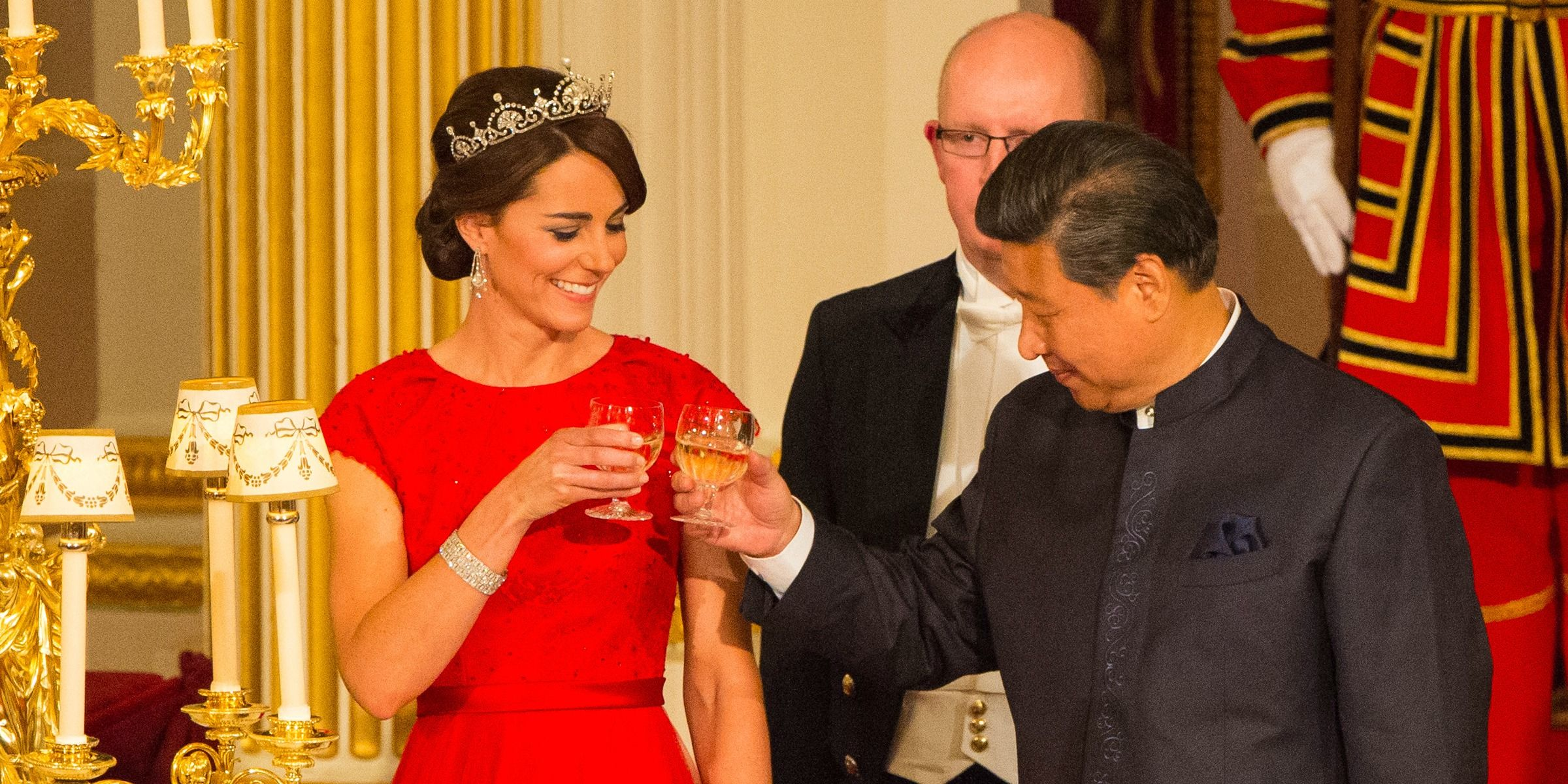 Why Kate Middleton Wore Red Dress And Tiara To First State Banquet